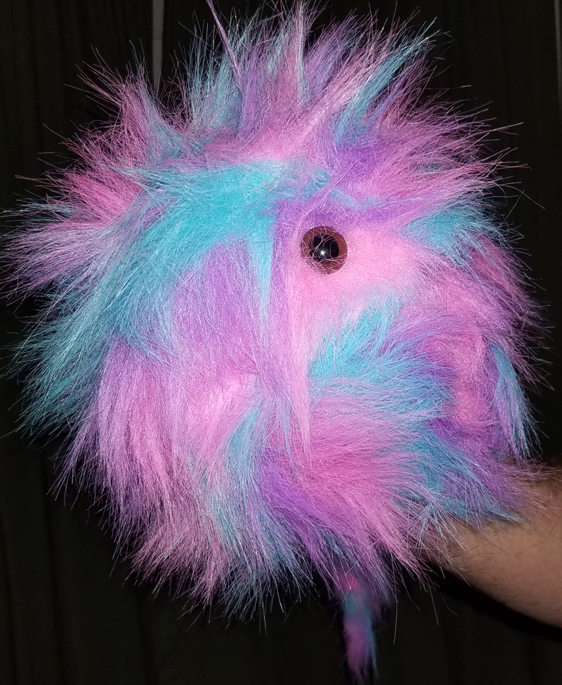 "Professional Rainbow ""FurGoblin"" Brn Eyes Muppet Style Ventriloquist Puppet *B1"