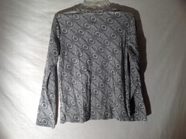 Womens Black White Stretchy Long Sleeve Shirt by White Stag Sz M 8 10 image 5
