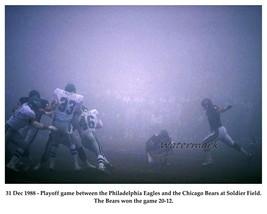 NFL Fog Game Chicago Bears vs Philadelphia Eagles Game Action 8 X 10 Photo Pic - $5.99