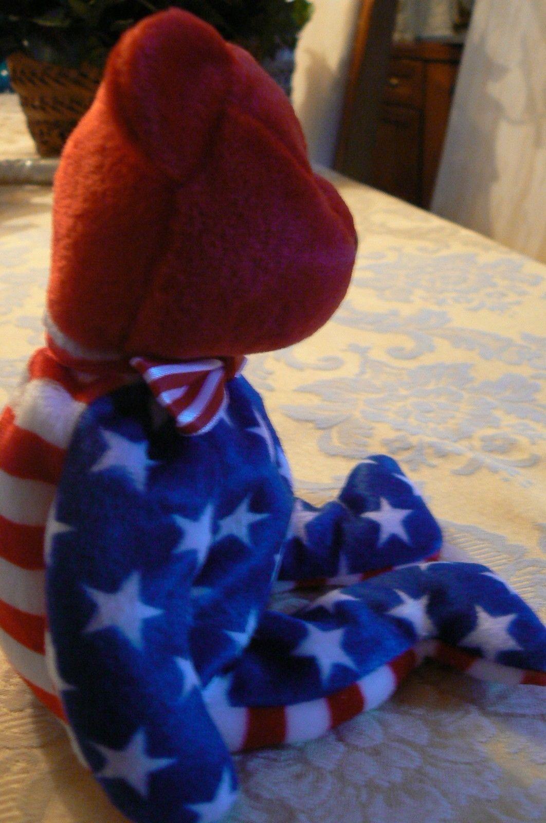 "Vintage Ty Beanie Babies Liberty "" The Bear "" Hang Tag 2001/Tush Tag 2002 Errors image 4"