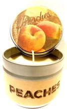 Peach 4oz All Natural Novelty Tin Soy Candle, Take It Any Where Approxim... - €5,24 EUR