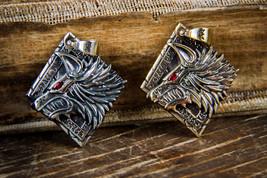 Handmad space wolves amulet, warhammer 40k pendant, space marine medallion - $30.00+