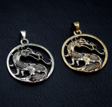 Handmade Unique dragon pendant, mortal kombat medallion, fatality  - $35.00+