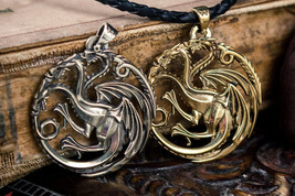 Dragon pendant, daenerys targaryen symbol, Khaleesi Game of Thrones  Med... - $35.00+