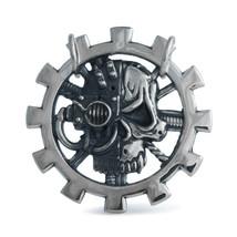 Handmade skull medallion warhammer 40k pendant, Adeptus Mechanicus wh40k... - $36.00+