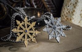Handmade Chaos Star medallion, warhammer 40k pendant, Wh40K, fan art - $33.00+