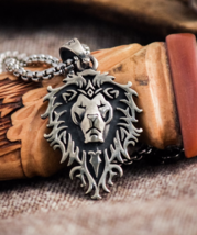 lion pendant, akkiance symbol medallion, world of warcraft - $35.00+