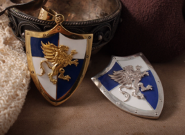 Handmade Heroes of Might and Magic Erathia  brooch, shield griffin pendant - $45.00+