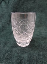 """Waterford Clear Crystal Cross-Hatch 4 oz Juice Glass 3 3/4"""" - $45.39"""