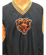 Chicago Bears Mens L Football NFL Blue Orange Pullover Jacket - $44.10