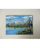 Hand Painted Art Card Original/Magnet - $5.95