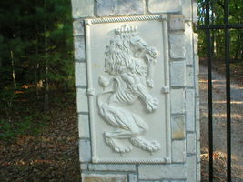 "Giant Mold 19""x34""x2"" Scottish Rampant Lion (Right Face) Wall Plaque, Fast Ship image 3"