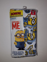 Despicable Me  Boys 6 Pack Briefs Underwear  Size 6 NWT - $14.99
