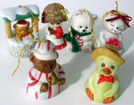 Vintage Lot Of 6 Jasco-CDF And Giftco Bell Orna... - $16.93