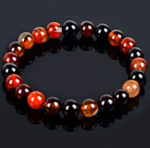 Buddha Bead Bracelet Browns/Maroons Inner Earth Natural Stone - $8.19