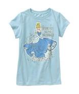 Disney Cinderella  Girls Blue T-Shirt Sizes 4-5 or 7-8 or 10-12  NWT - $9.09