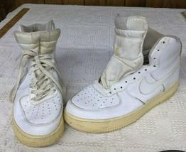 USED Nike Air Force 1 High White 315121-115 sz 10.5 - $19.79