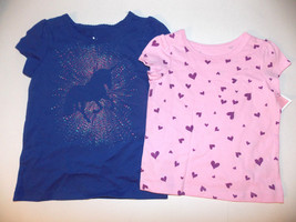 Circo Toddler Girls Pink Hearts or Purple Unicorn T- Shirt Size 18 Months,4T NWT - $8.99