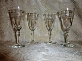 Vintage Crystal Cordial Glasses Elegant Design - $25.00