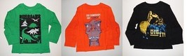 The Childrens Place Toddler Boys T-Shirts Long Sleeve dinosaur Truck  2T... - $9.99