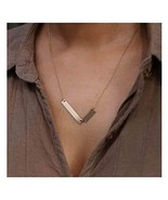 Olbye Stacking Bar Necklace Simple Gold Necklaces Choker Minimal Everyda... - $7.29