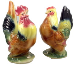 Vintage Royal Copley ceramic hen and crowing ro... - $55.00