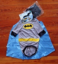 NEW Batman Pet Dog Costume Outfit Halloween Cape Superhero sizes S / M /... - $14.64