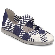 Aerosoles Womens Skip Ahead Blue/White Combo Casual Shoes Flats 5.5 Medi... - $24.74