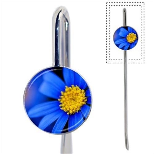 Blue Daisies Flowers Bookmark - Book Lover Novelty Gifts