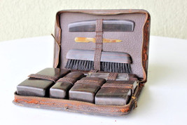 Vintage men's shaving kit Travel Toiletries Kit... - $45.53