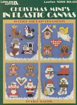 Christmas Mini's, Plastic Canvas Pattern Booklet LA 1059 Magnets Fridgie... - $3.95