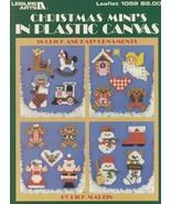 Christmas Mini's, Plastic Canvas Pattern Booklet LA 1059 Magnets Fridgie... - $3.95