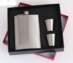 Camping Hunting Whiskey Alcohol Booze Pocket Stainless Steel Flask Gift ... - €16,34 EUR