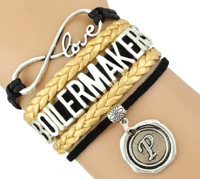 Purdue University Boilermakers Fan Shop Infinity Bracelet Jewelry