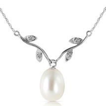 "4.02 CTW 14K Solid White gold fine pearl Diamond Necklace 16-24"" - $120.18+"