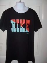 Nike Black Short Sleeve Slim Fit Size Large T-SHIRT Boy's Euc - $34.99