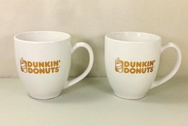 Lot of 2 DUNKIN' DONUTS Large Coffee Mugs Cups ... - $19.99