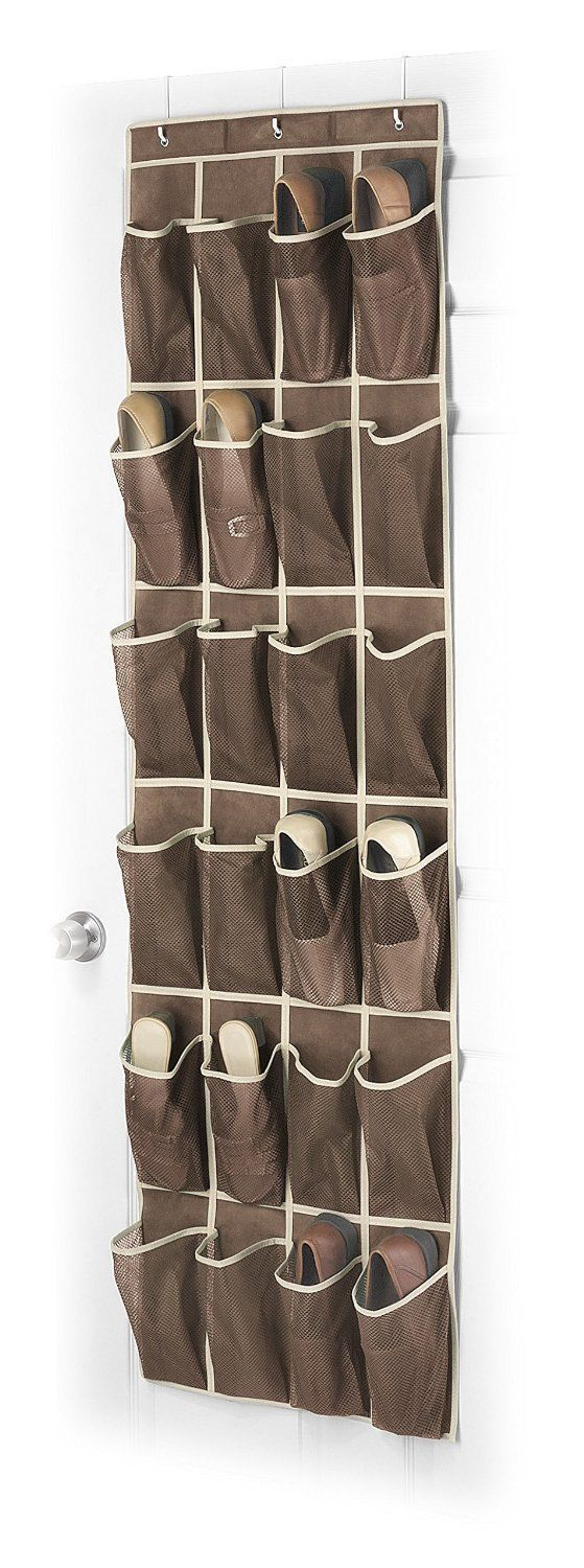 Over The Door Shoe Rack For Closet Hanging Storage Canvas