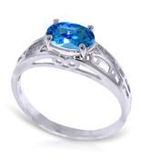 Brand New 1.15 Carat 14K   White Gold Filigree Ring Natural Blue Topaz - $225.79