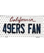 49ers California State Background Metal License Plate Tag (49ers Fan) - $11.35