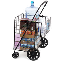 Folding Jumbo Size Shopping Cart Basket - $30.00