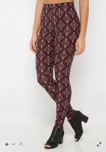Women's NWT Tribal Diamond Soft Brushed  Leggin... - $14.02