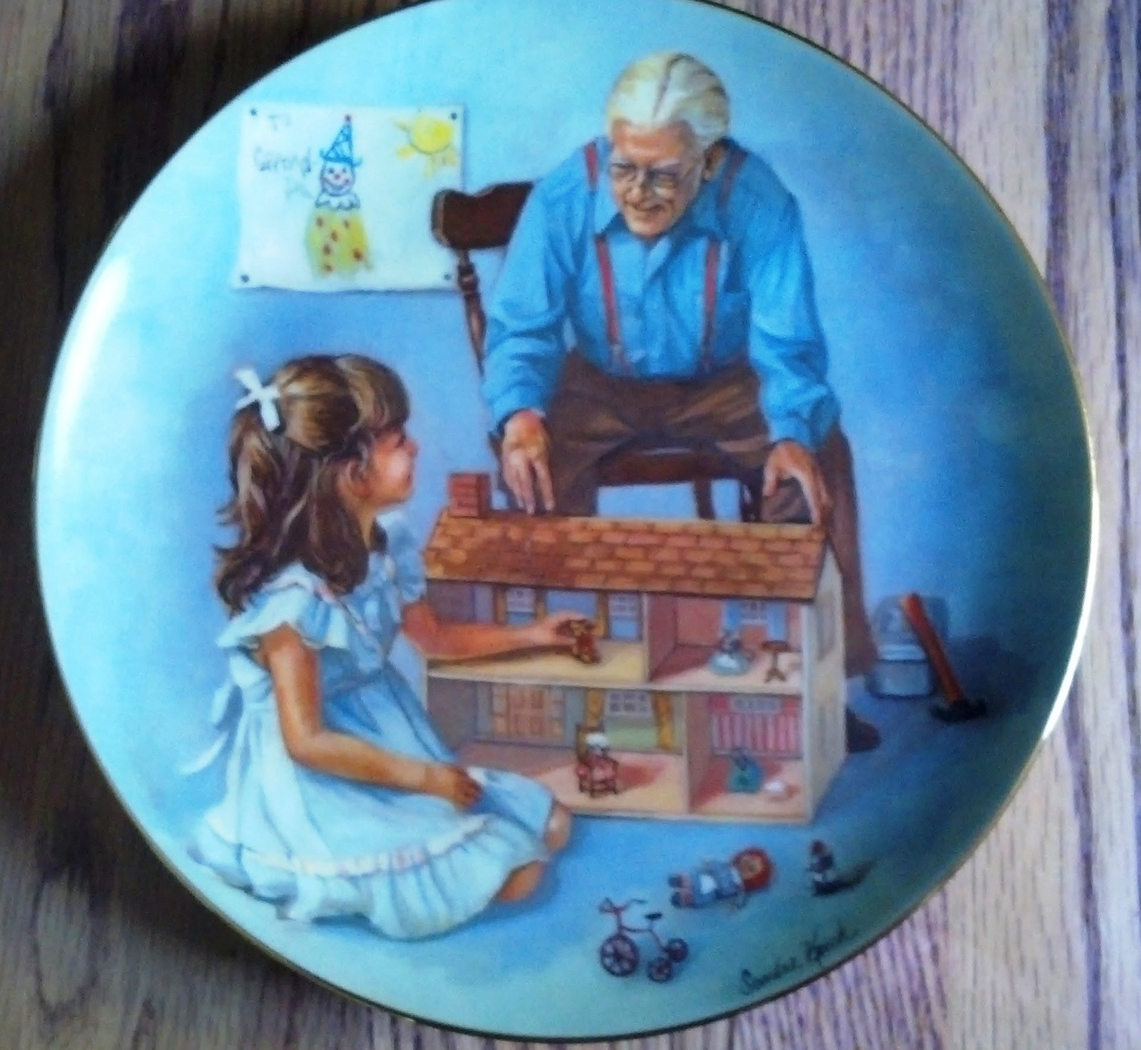 Sandra kuck collector plate grandpa and the doll house 8