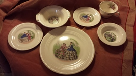 Godey Prints by Salem China Company 6pc table s... - $40.00