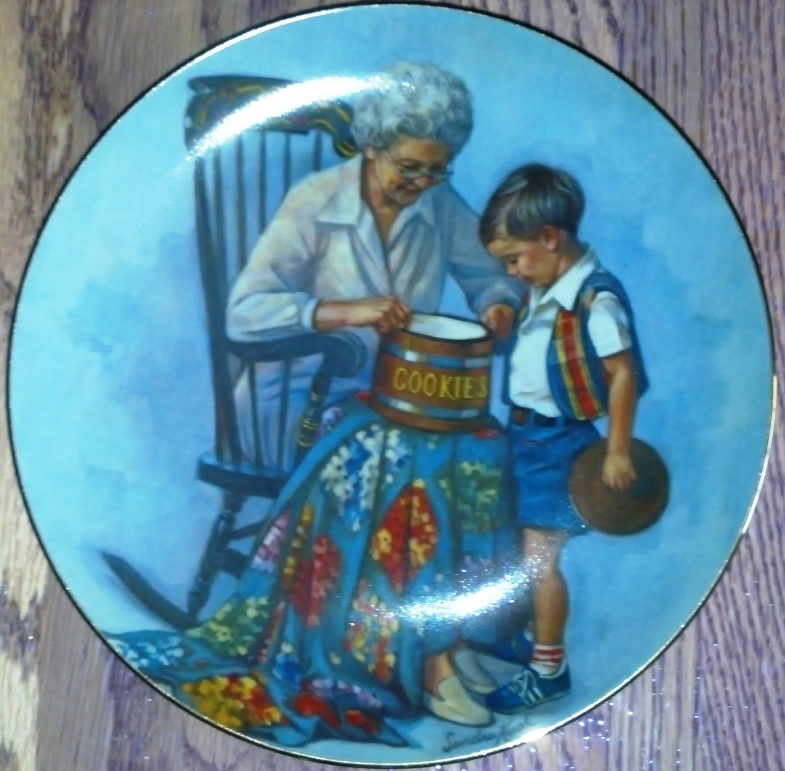 "Sandra Kuck Collector Plate ""Grandma's Cookie Jar"" RECO Collection 1981"