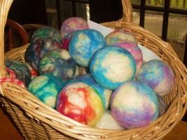 handmade wool dryer balls, environmentally frie... - $13.89