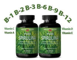 SPIRULINA Capsules 100% Plant-Based Dietary Supplement (2 Bottles) - $21.46