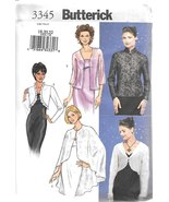 B3345 Misses' Evening Jacket Bolero and Vest Sizes 18-20-22  Butterick S... - $5.89