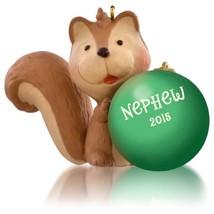 Nephew 2015 Hallmark Ornament Family Boy Love Fun Squirrel Green Christm... - $6.42