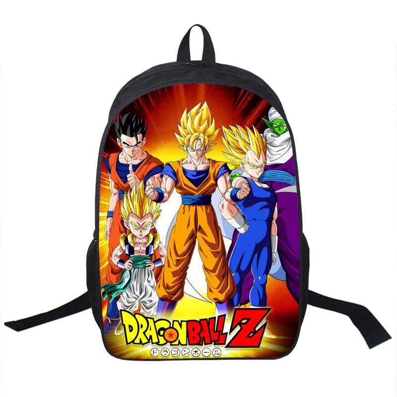 Anime Dragon Ball Backpack Boys Girls School Bags Saiyan Sun Goku Backpack For T